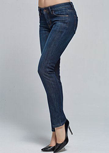 Vaqueros 832 Fit para Slim Franela de 1 Azul Mujer Camii Calentito Mia S5RBxnS7q
