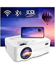 Artlii Enjoy 2 Portable Projector, WiFi and Bluetooth Projector, 300'' Display, Keystone and Zoom, Phone Screen Miracast, Compatible with TV Stick, iOS, Android