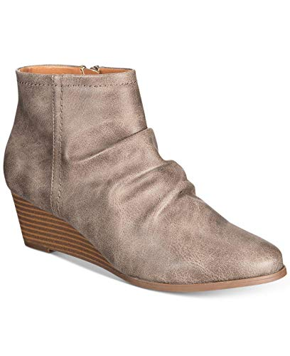 Womens amp; Co Donne Ginnahclosed Fashion Grigio Ginnahclosed Ankle Delle Punta Stivali Boots amp; Caviglia Stile Style Grey Co Moda Toe qXtBwf5
