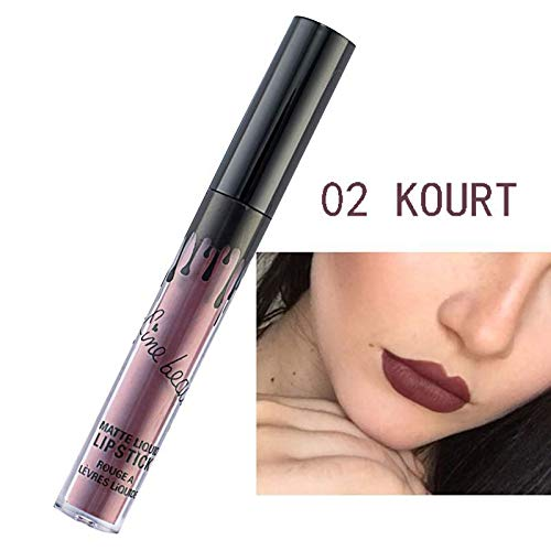 Makeup Matte Lipstick Metallic Colors Waterproof Long Lasting Shimmer Complexion Liquid Lipstick Lip Gloss 2 by MEZHLZ