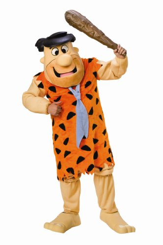 Flintstones Feet Costume - The Flintstones Fred Flintstone Mascot Costume, Orange, Standard