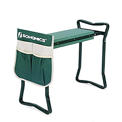 SONGMICS Garden Kneeler Seat with Tool Pouch EVA Pad UGGK49L