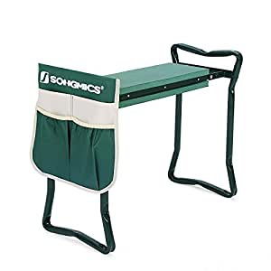Songmics Garden Kneeler Bench With Eva Kneeling Pad And Tool Pouch Uggk49l Patio