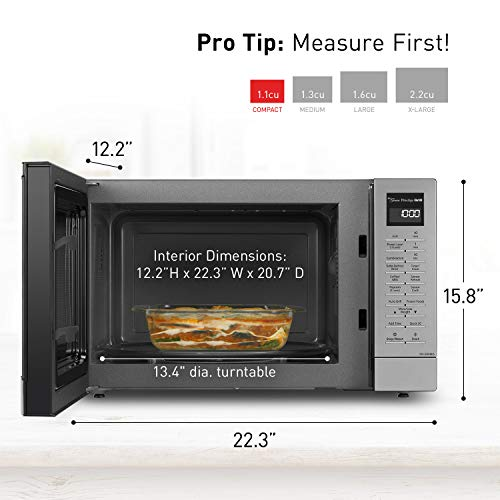 Panasonic Countertop Microwave Oven with FlashExpress Broiler, Genius Sensor Cooking, Popcorn Button and 1000W of Cooking Power - NN-GN68KS – 1.1 cu. ft (Stainless Steel) by Panasonic (Image #5)