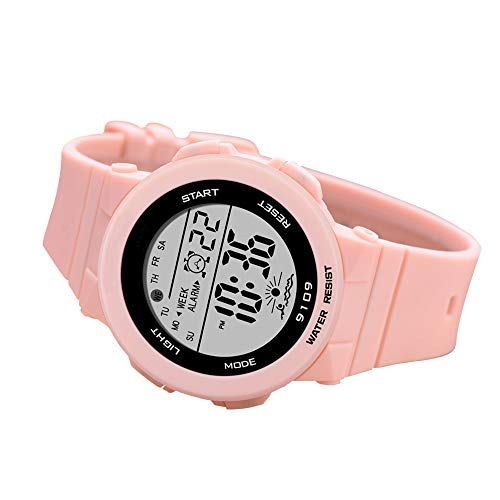 Sports Watch for Women, Women's and Girls' Watch Waterproof Digital Watch with 7 Colors Backlight