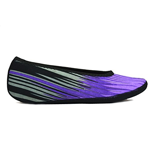 Medium Shoes Indoor Best Travel Nufoot Shoes Dance Women's Flats Socks House amp; amp; Slipper Purple Socks Flats Yoga Shoes Slippers Slippers Shoes Foldable Ballet Aurora Flexible Exercise q1wwIBF