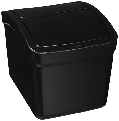 Carmate CZ262 Japan Motor Car Sedan Truck VAN SUV Jeep Home Office Portable Compact Waste Basket Dust Box Duplex Trash Garbage Can with Swing Cover