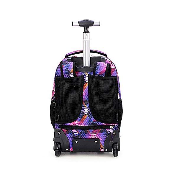 Dameing - Zaino trolley con ruote per studenti, di medie dimensioni, con doppia barra, impermeabile, da viaggio, per… 4 spesavip