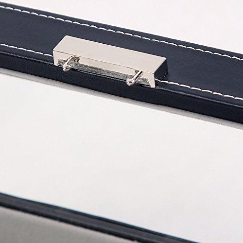 Songmics Uhrenkoffer  für 5 Uhren mit Glas Samt Schwarz JWB05B -