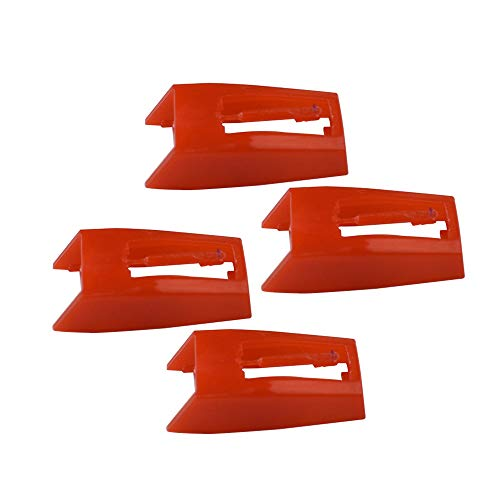 NP1 NP6 Turntable Replacement Stylus Record Player Needle for Ion Max LP Classic LP Archive Crosley CR8005D Jenson 1byone Vinyl Record LPplayer Phonograph -Pack of 4 (ABS -Red)