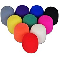 20 Pack Thick Microphone Cover Colorful Handheld Stage...