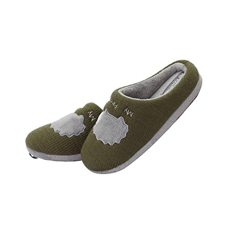 Kenroll Boys Girls Woolen Knitting Cotton Shoes Autumn Winter Indoor House Skid Proof Slipper