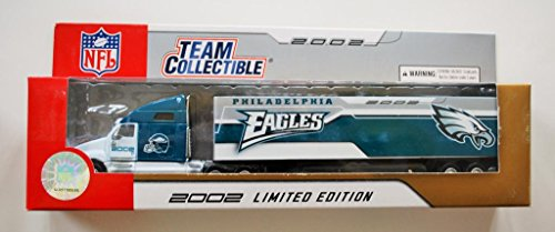 Fleer 2002 LIMITED EDITION NFL Team Collectible 1:80 Scale Diecast Kenworth Tractor Trailer PHILADELHIA EAGLES