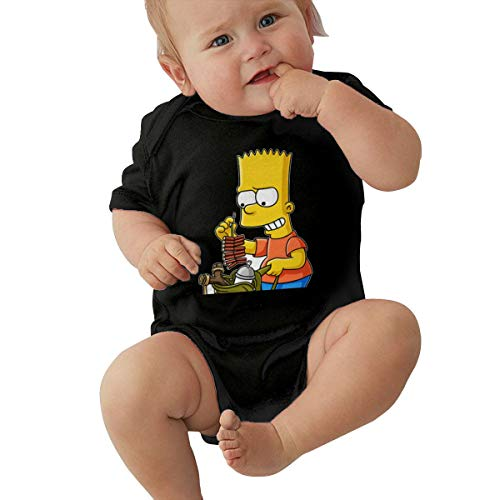 LiuYeWen Bart Simpson Limited Edition Baby Clothes Pure Cotton Black 6M -