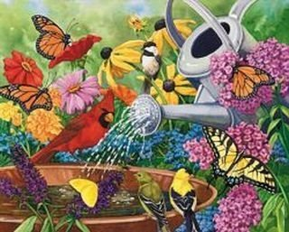 Garden Delights Quilters Lane Jigsaw Puzzle 750 Pieces by Mega Puzzles ()