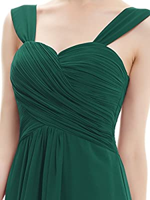 Ever Pretty Ruffles Padded Chiffon Knee-length Bridesmaid Dresses 03539