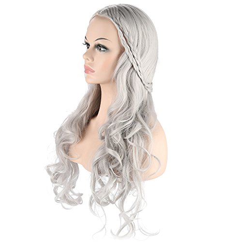 28 Quot Wig Gray Curly Wig Cosplay Wig For Game Of Throne