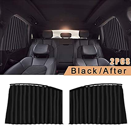 klinkamz 1 Pair Car Magnetic Sunshade Full UV Protection Curtain Sun Block Privacy Protector Shades