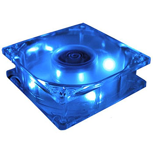 80mm blue led fan - 1