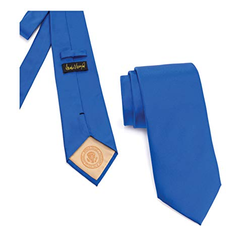 Donald J. Trump Signature Blue Neck Tie with Presidential Seal