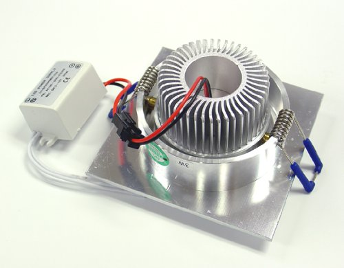 CS Power 3W LED Energy Saving Grid Giling Spotlight - Warm White