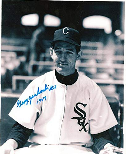 0a7be8d517d George Yankowski Autographed Photo - 8x10 W coa - Autographed MLB ...