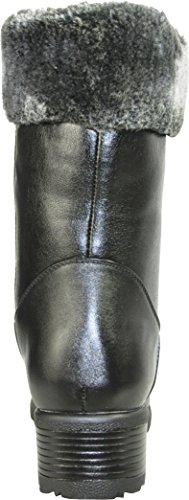 Kozi Donna Stivali Invernali Sh4534 Fodera In Pelliccia Stivaletti Neri 8,5 M