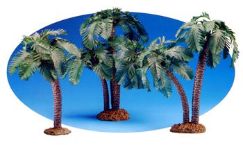 - 5 Inch 3 Piece Scale Palm Tree Set