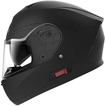 Motorcycle Full Face Helmet DOT Approved - YEMA YM-831 Motorbike Moped Street Bike Racing Crash Helmet with Sun Visor for Adult, Men and Women - Matte Black ...