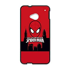 HTC One M7 Cell Phone Case Black Ultimate Spider Man Face LV7142080