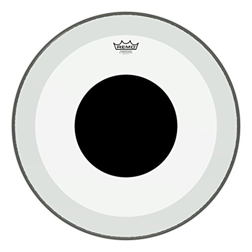 (Remo P31322-10 Clear Powerstroke 3 Bass Drum Head - 22-Inch - Black Dot)
