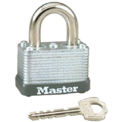 Master Lock 22D Laminated Steel Warded Padlock, 1-1/2-Inch Wide Body, 5/8-Inch Shackle - Lock Inch 1.5