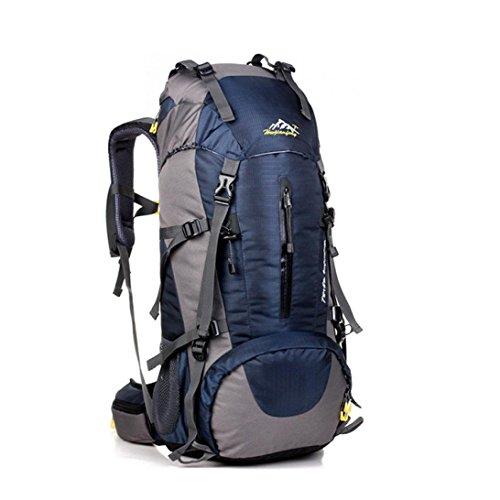"Fulltime (TM)–�?0L al aire libre impermeable plegable bolso de hombro bolso playa bolsas de equipaje viaje, hombre mujer Infantil, negro, 60 x 30 x 20 cm (23.6""H x 12"" W x 7.9"" L) azul oscuro"