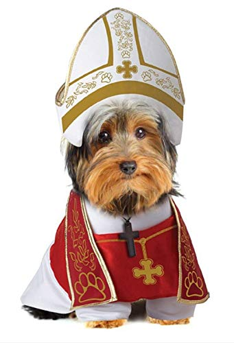 General Fashion Holy Pope Hound Dog Pet Costume New -