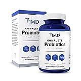 1MD Complete Probiotics Platinum - with Prebiotic Fiber | 51 Billion Live CFU, 11 Strains, Dairy-Free | 30 Vegetarian Capsules