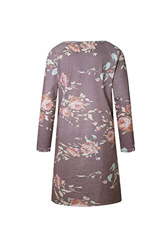 color Camicia Maniche Stile Scollo Tondo In Midi Xl Lunghe Colour1 Bottoni Black Felpa Donna Sciolti Con Elegante T A Qinch shirt Size Da Disegni C7pqZH