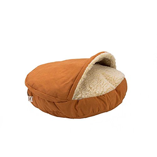 Snoozer Luxury Orthopedic Cozy Cave Pet Bed, Small, Shona Brown Sugar (Suede Sugar)