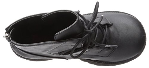 Ranger-102 Plattformhalbstiefel mit klobigen Blockabsatz und schwarzen Schnürsenkeln - (EU 39 = US 9) - Demonia