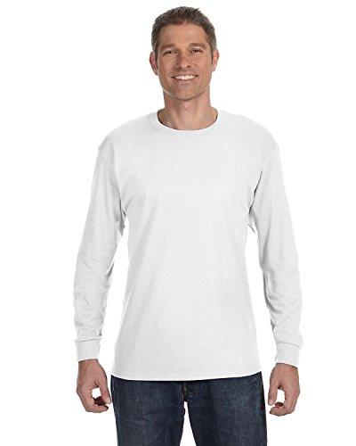 Hanes TAGLESS 6.1 Long Sleeve T-Shirt (White, -