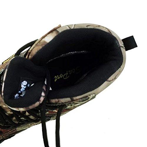 SeaPart Chaussures de Sport Chaussures de Randonnée Montantes Hautes Homme Imperméable Tissu Oxford Camouflage