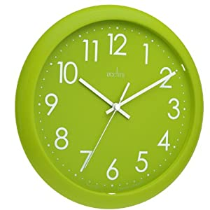 Amazon Com Acctim 21895 Abingdon Wall Clock Lime Green