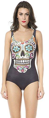 Thenice - Conjunto - para mujer Multicolor skull