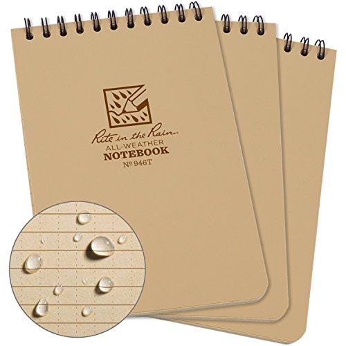 Rite in the Rain Weatherproof Top-Spiral Notebook, 4