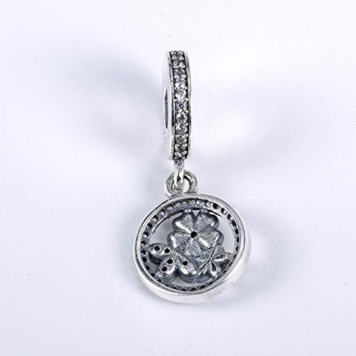 Calvas Genuine 925 Sterling Silver Three Flower Crystal Pendant Beads for Original DKG Charm Bead Bracelet DIY Jewelry