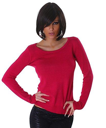Jela London–Jersey para mujer con punta Uso einfarbig Talla Única (32–�?6) Rosa