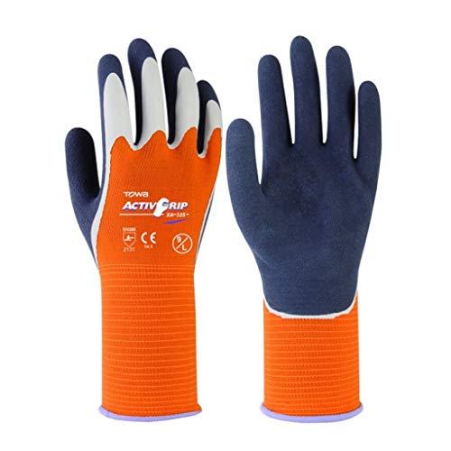 (Ly-yygj Gardening wear-Resistant Soft Anti-tie Gloves Garden Planting stab-Resistant Soil Work Work Gloves (Color : Orange, Size : L))