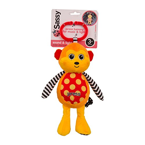 Sassy Sound and Light Attachable Monkey Toy - Attachable Toys