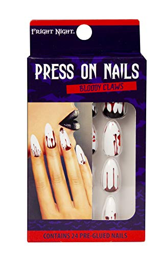 Fright Night 24 Count Press on Nails - Bloody Claws - Halloween and Costume Cosmetics]()