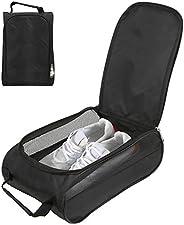 Golf Shoe Bag - Breathable Nylon Shoe Storage Organizer Zippered Shoe Carrier Case Shoe Travel Bag
