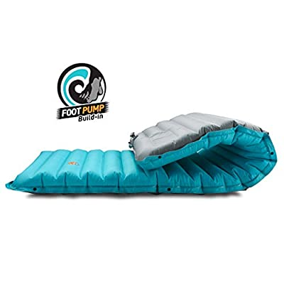 ZOOOBELIVES Extra Thickness Inflatable Sleeping Pad with Built-in Pump, Most Comfortable Camping Mattress for Backpacking, Car Traveling and Hiking, Compact and Lightweight - Airlive2000